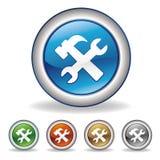 инструмент иконы Стоковые Изображения RF