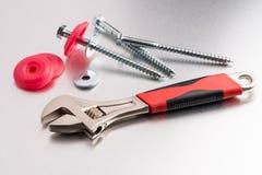 Инструмент и винты гаечного ключа Стоковая Фотография RF