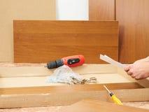 Инструмент и мебель для само-собрания Стоковое Фото