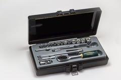 инструмент отверток различного набора коробки пластичный Стоковое фото RF
