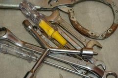 Инструмент ремонта гаечного ключа и ключа собрания Стоковое Фото