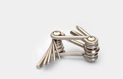 Инструмент ремонта гаечного ключа шестиугольника ключа многофункционального велосипеда стальной Стоковые Фото