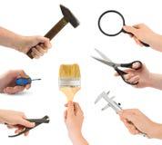 инструмент руки установленный Стоковые Фото