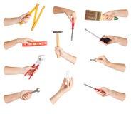 инструмент руки установленный Стоковое Изображение