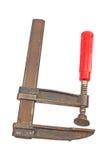 Инструмент струбцины изолированный на белизне Стоковое Фото