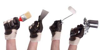 инструмент 2 рук установленный Стоковое Фото