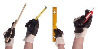 инструмент 4 рук установленный Стоковые Фотографии RF