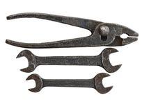 инструмент antique установленный Стоковое Изображение
