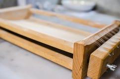 Инструмент Chitarra- специальный итальянский для делать макаронные изделия Стоковое Фото