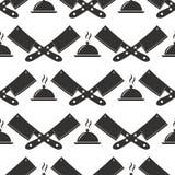 Инструмент Kitchenware бумажный варя безшовную иллюстрацию вектора предпосылки хлебопекарни картины Стоковое Изображение
