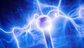 Интенсивная электрическая разрядка и Стоковая Фотография