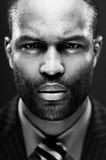 Интенсивный Афро-американский портрет студии Стоковые Фото