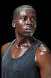 Интенсивный потный спортсмен стоковое изображение