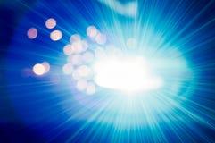 Интенсивный светлый оператор заварки виртуальный и ослепляя Стоковое Фото