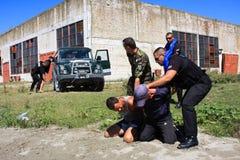 Интервенция полиций Стоковое Изображение RF