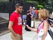 Интервью на кубинськом посольстве стоковые изображения rf