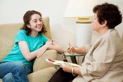интервью предназначенное для подростков Стоковые Фотографии RF