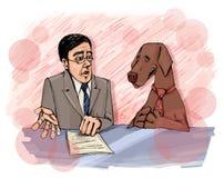 интервью собаки иллюстрация вектора
