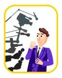 интервью Человек диктора конференция предпосылки изолировало белизну давления микрофонов весточка Репортаж в прямом эфире, новост Стоковое Фото