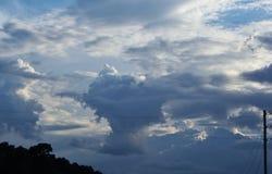 Интересная картина облака Стоковое фото RF