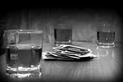 Интересная карточная игра потехи, отдых Стоковое Фото