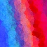 Интересная неровная красочная текстура предпосылки с голубым красным цветом иллюстрация штока