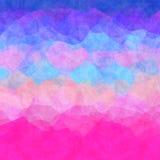 Интересная неровная красочная текстура предпосылки с голубым пинком иллюстрация вектора