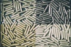 Интересная текстура макарон макаронных изделий от твердого разнообразия пшеницы Стоковое Фото