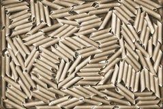 Интересная текстура макарон от твердого sepia макаронных изделий разнообразия пшеницы Стоковое Фото