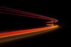 Интересные и абстрактные света в апельсине, красном Стоковые Изображения