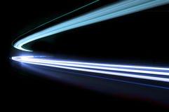 Интересные и абстрактные света в сини стоковое фото rf