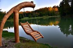 Интересный деревянный стул смертной казни через повешение Стоковое Изображение RF