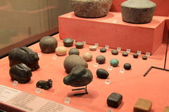 Интересный экспонат старых египетских артефактов, жалюзи, Париж, Франция, 2016 Стоковая Фотография