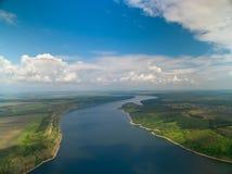 Интересы Украины, съемки большой возвышенности воздушной реки Днестра стоковое изображение