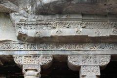 Интерес пещер Ajanta, вырезанных в скале буддийских памятников стоковое изображение rf