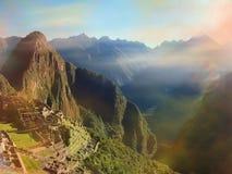 Интерес Южная Америка мира руин Inca Machu Picchu Перу Стоковые Фотографии RF
