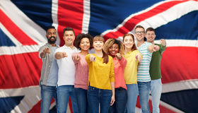Интернациональная бригада людей указывая на вас Стоковая Фотография