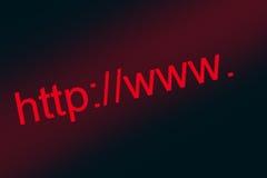 интернет адреса Стоковые Изображения RF
