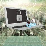 Интернет безопасностью компьютерного программирования стоковое фото