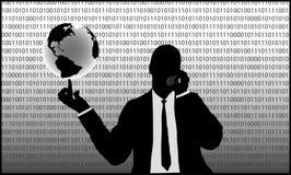 интернет бизнесмена Стоковая Фотография RF