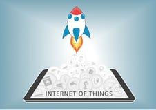 Интернет вещей (IoT) принимает  Стоковые Фотографии RF
