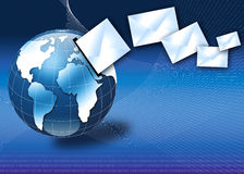интернет глобуса электронной почты принципиальной схемы 3d Стоковое Изображение RF