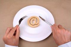 Интернет для обеда Стоковые Изображения RF