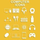 интернет икон компьютера подписывает мир Иллюстрация концепции вектора для дизайна Стоковая Фотография RF