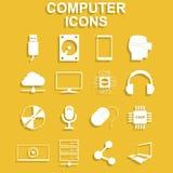 интернет икон компьютера подписывает мир Иллюстрация концепции вектора для дизайна Стоковые Фотографии RF
