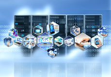 Интернет и информация technolgy стоковые изображения rf