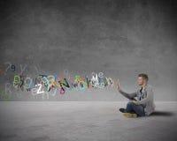 Интернет и социальная принципиальная схема сети стоковое фото rf