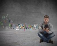 Интернет и социальная принципиальная схема сети стоковое фото