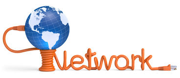 интернет кабеля Стоковое Изображение