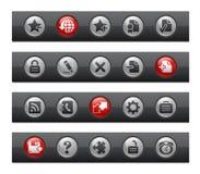 интернет кнопки штанги плюс серия распологает сеть Стоковое Фото